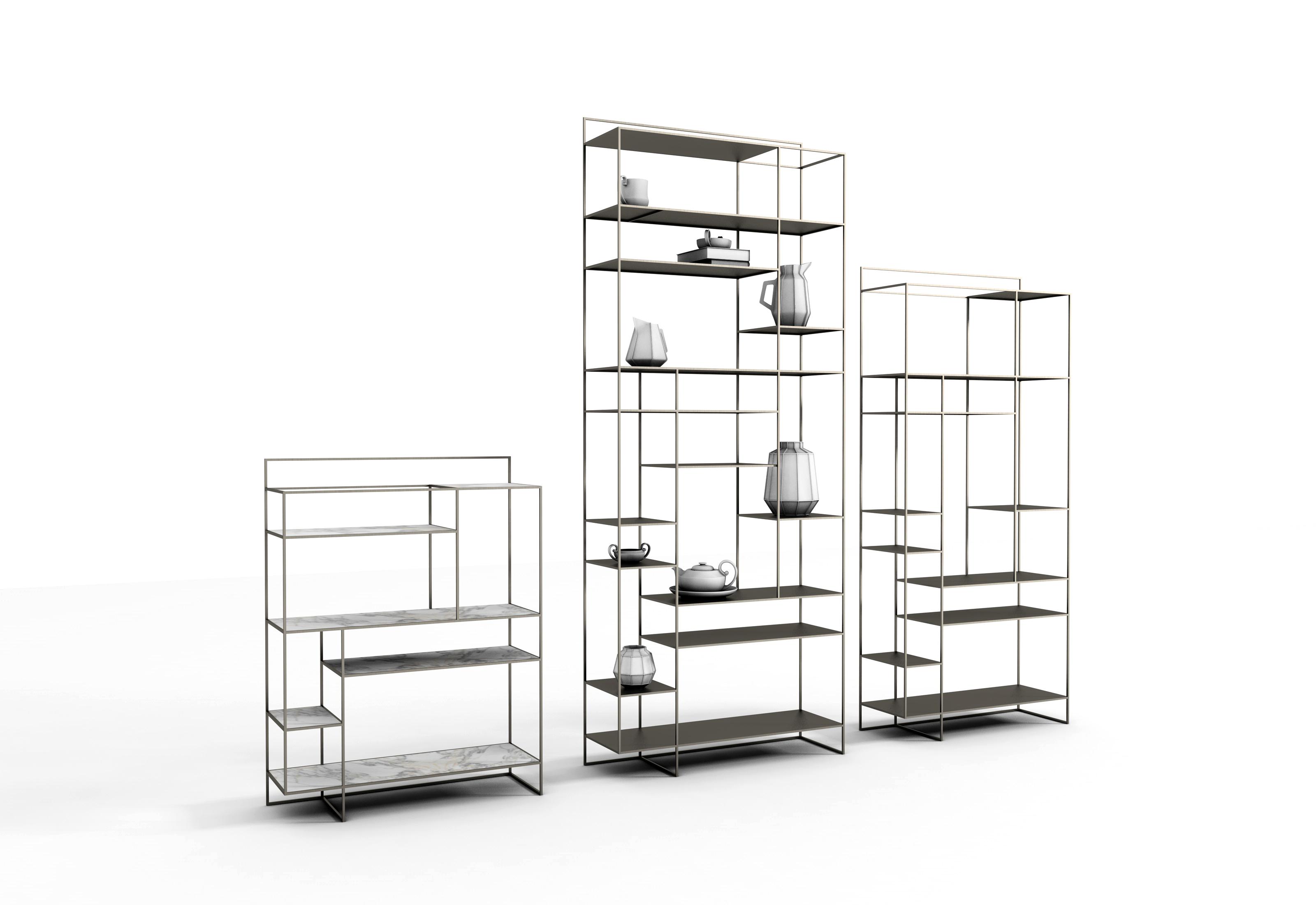 Libreria moderna in metallo modello 39 levia 39 ronda design for Prodotti design