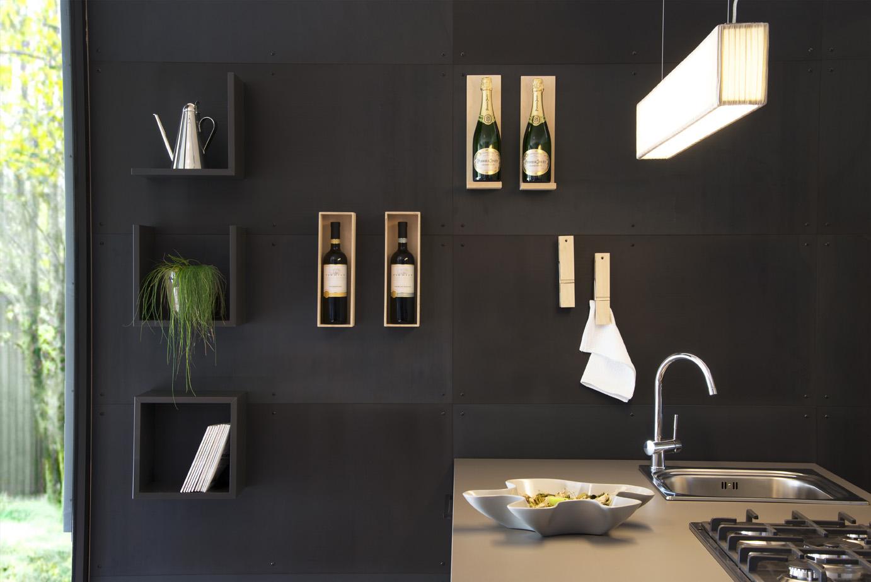 Parete wine bar cucina