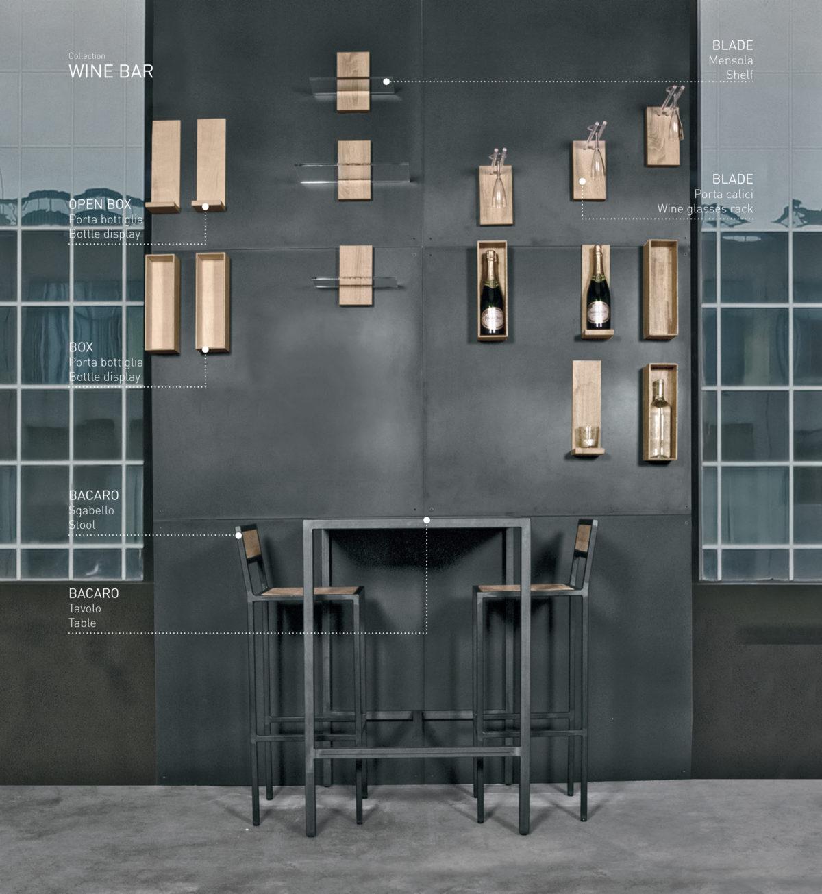 tavolino bacaro parete wine bar magnetika arredo design magnetico per bar e ristoranti magnetika - design ristoranti e bar