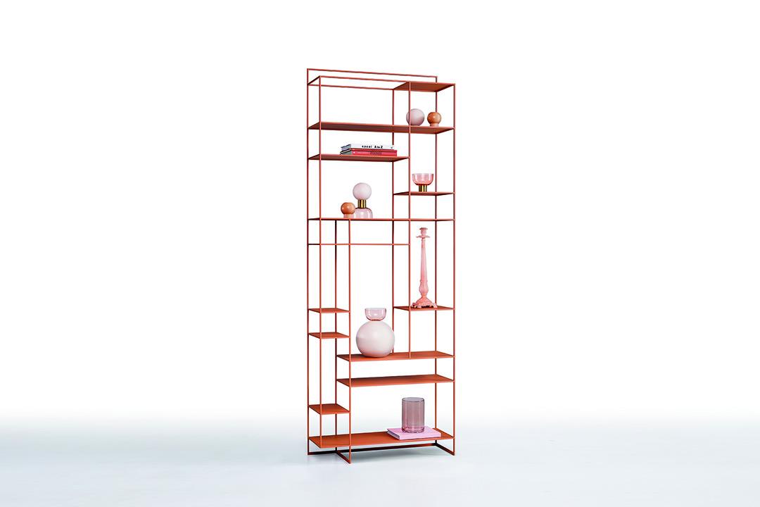 levia - libreria moderna in metallo foto2