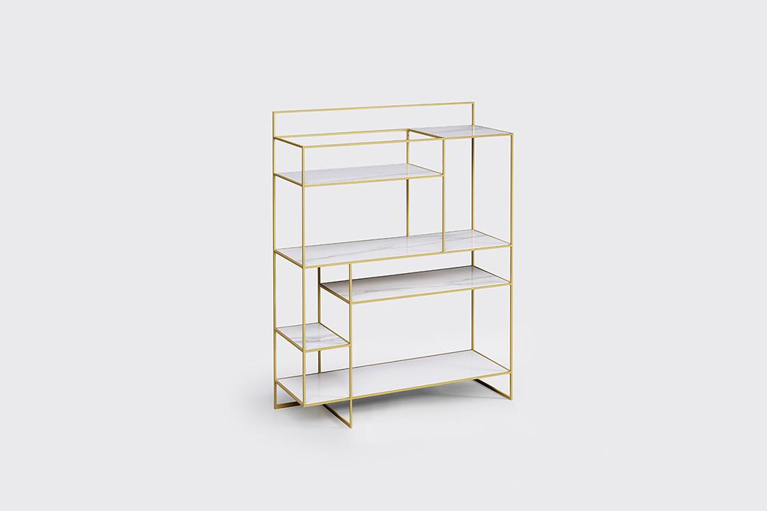 levia - libreria moderna in metallo foto3