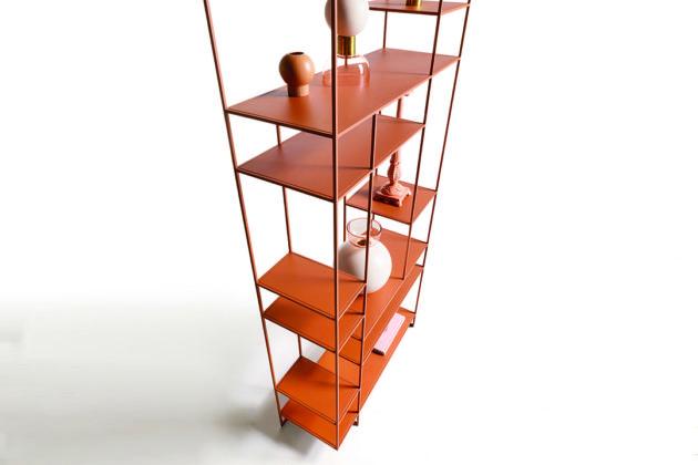 levia - libreria moderna in metallo foto4