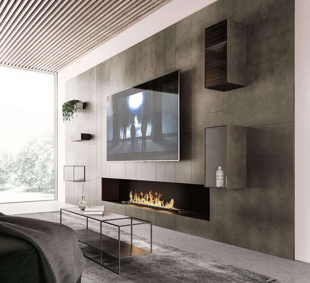 caddyliving - come arredare la parete tv - 1