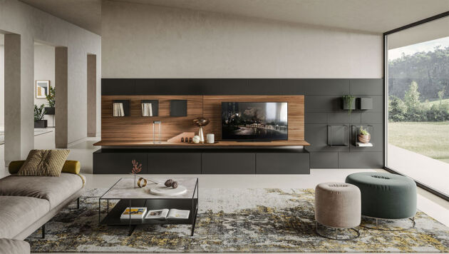 bench - how to furnish the TV wall - 2